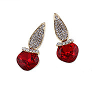 Earrings Set Crystal Unique Design Euramerican Fashion Personalized Alloy Red Black Gold Jewelry For Wedding Party Birthday Gift 1 pair