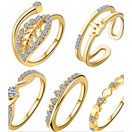 Midi Rings Euramerican Alloy Jewelry For Daily 1set