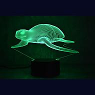 Jul havskildpadder touch dæmpning 3d ledet nat lys 7colorful dekoration atmosfære lampe nyhed belysning jul lys
