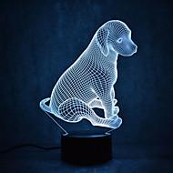 Le tartarughe del cane di natale toccano l'illuminazione della luce di notte 3d ha condotto la luce 7colorful della decorazione della