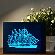 1 pc die fünf Farben ursprüngliche Haushaltsgeschenke bluetooth Audio-Knopf-betriebene Steuerung 3d Nachtlampe