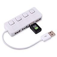 2,0 cubo adaptador USB 4 480 Mbps portas cubo divisor ultra fino para PC portátil