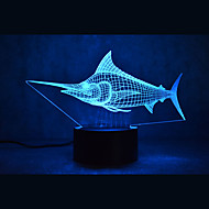 Christmas Marlin Turtles Touch Dimming 3D LED Night Light 7Colorful Decoration Atmosphere Lamp Novelty Lighting Christmas Light
