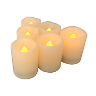 6 pcsflameless votive candles med timer led votives batteridrevne votives med timer realistisk flimrende lang batterilevetid 400 time /