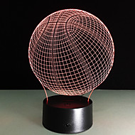 Novelty 3D Visual Acrylic Led Night Light Basketball Usb Lighting Bedroom Table Lamp Colorful Gradient Atmosphere Lamp