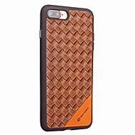 Para iphone 7 7 mais estojo de cartão de capa capa de capa traseira resistente a choque cor sólida couro duro para iphone 6s mais 6 5 5s