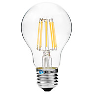 8W Lampadine LED a incandescenza A60(A19) 8 COB 600 lm Bianco caldo Bianco V 1 pezzo