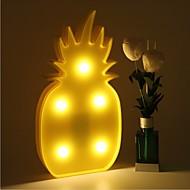 3d doprowadziły nocne światło ananasowe lampy nocne romantyczny stół lampa marquee dom Boże Narodzenie wystrój baterii doprowadziły