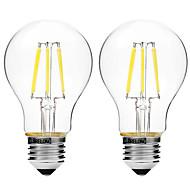 2pcs BRELONG Dimming A60 E27 6W 6LED 300LM Antique Filament Lamp Warm White / White AC22OV Transparent Bulb Light