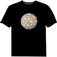 Camiseta com LED 100% Algodão Inovador 2 Baterias AAA