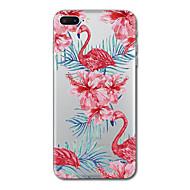 Para iphone 7 mais 7case tampa transparente capa de capa traseira flor flamingo soft tpu para iphone 6s mais 6s 6 plus 6 5s 5 se