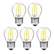 5pcs BRELONG Dimming G45 E27 4W 4LED 300LM Antique Filament Lamp Warm White / White AC22OV Transparent Bulb Light