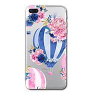 Para iphone 7 mais 7 capas de capas padrão transparente capa traseira balão flor suave tpu para iphone 6s mais 6s 6 mais 6 5s 5 se