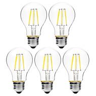 5pcs BRELONG Dimming A60 E27 6W 6LED 300LM Antique Filament Lamp Warm White / White AC22OV Transparent Bulb Light