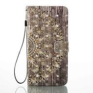 Caso para apple iphone 7 mais 7 carteira de suporte de cartão com suporte flip pattern case caso de corpo inteiro 3d flor hard pu couro