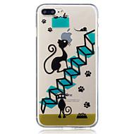 Para apple iphone 7 7 plus 6s 6 plus se 5s 5 escadas padrão de gato pintado de alta penetração tpu material imd process soft case phone