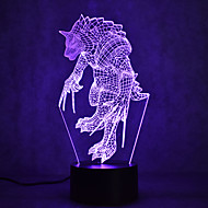 Christmas Werewolf Touch Dimming 3D LED Night Light 7Colorful Decoration Atmosphere Lamp Novelty Lighting Christmas Light