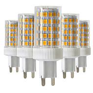 YWXLight® Dimmable 5pcs G9 10W 86LED 2835SMD 850-950 Lm Warm White/Cool White/Natural White LED Ceramics Lamp AC 220-240V