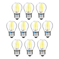 4W Lampadine LED a incandescenza G45 4 COB 300 lm Bianco caldo Bianco Oscurabile V 10 pezzi