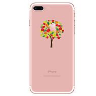 Caso para iphone 7 7 mais árvore padrão tpu capa traseira suave para iphone 6 mais 6s mais iphone 5 se 5s 5c 4s