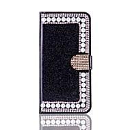 Para o iphone 7 7 mais estojo de cartão de capa de capa de titânio de suporte com suporte flip caixa de corpo cheio brilho brilho duro