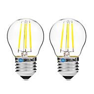 2pcs BRELONG Dimming G45 E27 4W 4LED 300LM Antique Filament Lamp Warm White / White AC22OV Transparent Bulb Light