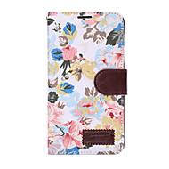 Voor Samsung Galaxy Note5 note4 case cover bloemen pu leren mobiele telefoon holster note3