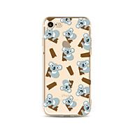 Case for iphone 7 plus 7 fedél átlátszó mintás hátlap burkolat rajzfilm koala soft tpu az Apple iPhone 6s plusz 6 plusz 6s 6 se 5s 5c 5 4s