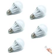 5W Lâmpada de LED Inteligente A70 18 SMD 2835 400 lm Branco Quente Branco Frio Sensor Ativada Por Som Decorativa Controle de luz V 5 pçs