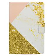 Pokrowiec na samsung galaxy tab t580 t560 wzrosła złoty marmur wzór pu materiał skórzany płaska osłona ochronna obudowa t550 t530 t350