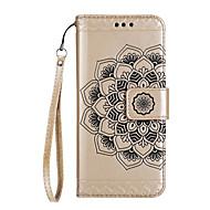 tapauksessa Huawei P8 lite (2017) p10 lite suojus puoli kukkakuvio kiiltävä kohokuvioitu PU ihomateriaalia kortti stentti puhelimen