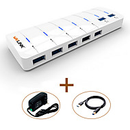 Wavlink usb3.0 hub 7-port super-speed led indicator com 180cm de cabo