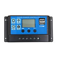24v 12v auto panel słoneczny kontroler ładowania baterii 30a PWM wyświetlacz LCD regulator kolektorów słonecznych z wyjściem podwójnego
