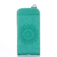 Dla samsung galaxy s5 mini s4 mini obudowa pokrowiec uchwyt na karty z podstawką flip wytłaczany pełny pokrowiec walizka stały kolor kwiat