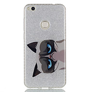 Käyttötarkoitus kotelot kuoret IMD Takakuori Etui Kissa Eläin Kimmeltävä Kova TPU varten HuaweiHuawei P9 Huawei P9 Lite Huawei P8 Lite