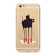 Obudowa dla telefonu iphone 7 plus 7 pokrowiec przezroczysty wzór obudowa tylna obudowa kreskówka zwierzę miękkie tpu dla iphone 6s plus 6
