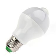 7W Lâmpada de LED Inteligente A60(A19) 14 SMD 5730 650 lm Branco Quente Branco FrioSensor infravermelho Sensor do corpo humano Controle