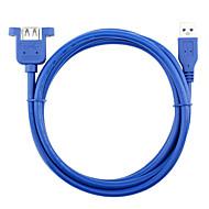 USB 3.0 Cabo de extensão, USB 3.0 to USB 3.0 Cabo de extensão Macho-Fêmea 0.3m (1 pé)