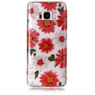 Tok samsung galaxis s8 plusz s8 telefon tok tpu anyag imd folyamat virágok minta hd flash por telefonos tok s7 él s7 s6 él s6