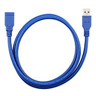 USB 3.0 Cabo de extensão, USB 3.0 to USB 3.0 Cabo de extensão Macho-Fêmea 1.8M (6 pés)
