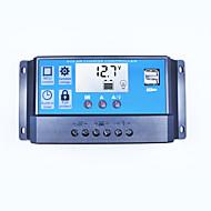 20A lcd dual usb solar charge controller wyjście 5v ładowarka mobilna 12 / 24v bateria słoneczna regulator ładowania baterii 20 amperów