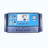 Zonne-oplader controller 30a dual usb 5v output 12v 24v auto groot lcd display zonnepaneel controller batterij laadregelaar