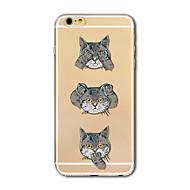 Obudowa dla telefonu iphone 7 plus 7 pokrywka przezroczysta obudowa tylna obudowa kreskówka koty miękka tpu dla jabłek iphone 6s plus 6