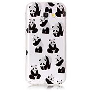Przypadku samsung galaxy a3 (2017) a5 (2017) obudowa pokrywa panda wzór wysoki przejrzysty materiał tpu imd rzemiosła futerał na telefon