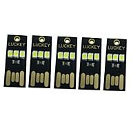 0.5W Slimme LED-lampen 3 SMD 65 lm Warm wit Wit Decoratief DC5 V 5 stuks