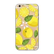 Case for iphone 7 plus 7 fedél átlátszó mintás hátlap burkolat gyümölcs csempe citrom puha tpu alma iphone 6s plus 6 plusz 6s 6 se 5s 5c 5