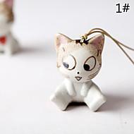 Worek / telefon / keychain urok kot kreskówkowy zabawki ceramiczne