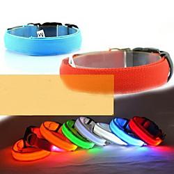 'Dog Collar Light Up Collar Led Lights Adjustable / Retractable Nylon Yellow Red Blue Pink Orange Miniinthebox