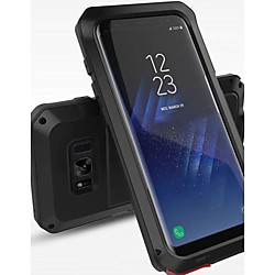 Phone Case For Samsung Galaxy Full Body Case S8 Plus S8 Shockproof Water Resistant Solid Colored Hard Metal miniinthebox