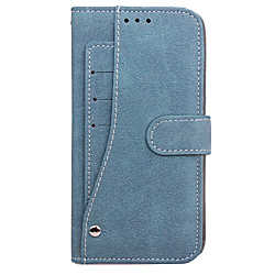 Phone Case For Samsung Galaxy Full Body Case S8 Plus S8 S7 edge S7 Wallet Card Holder Flip Solid Colored Hard PU Leather miniinthebox